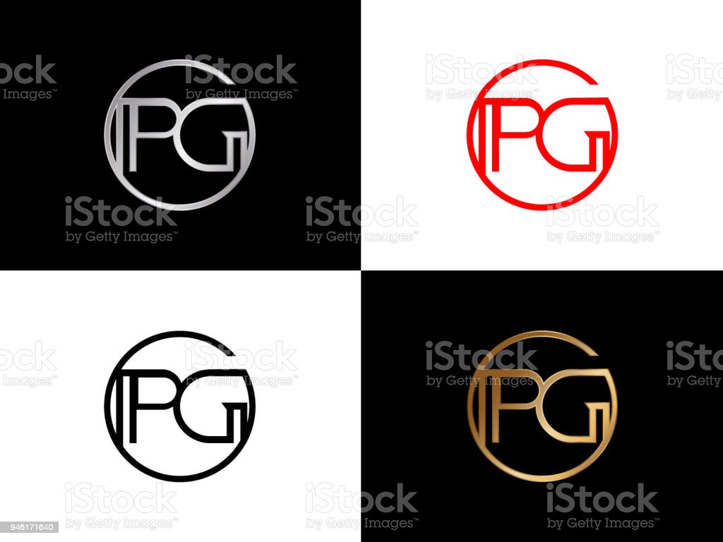 Pg Circle Shape Vector Design Stock Vector Art More Images Of