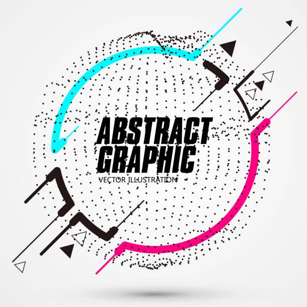 kreis-förmige abstrakte grafik, banner-werbe-hintergrund. - dashboard, hintergrund, hell stock-grafiken, -clipart, -cartoons und -symbole