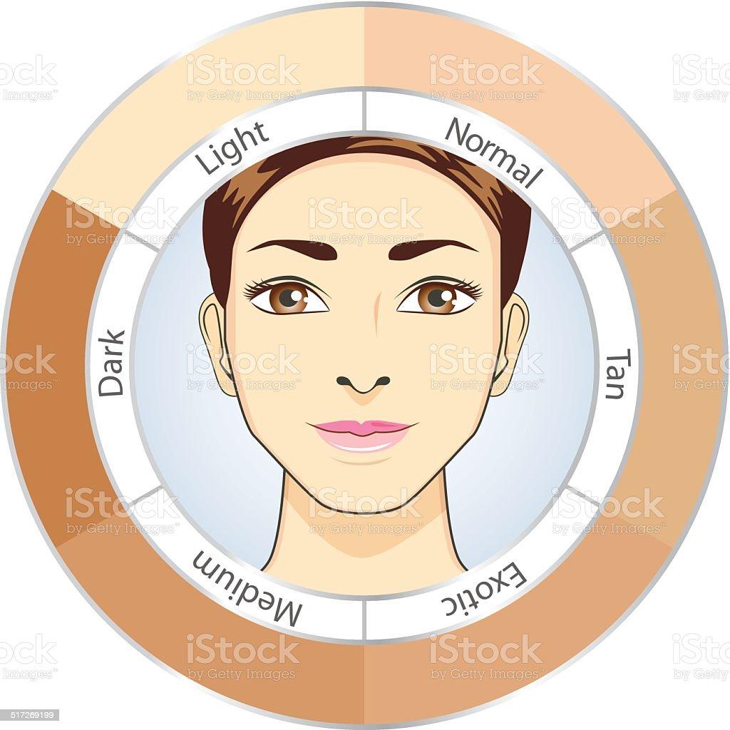 Circle skin color chart stock vector art 517269199 istock circle skin color chart royalty free stock vector art nvjuhfo Images