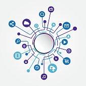 Circle Social Media Connection
