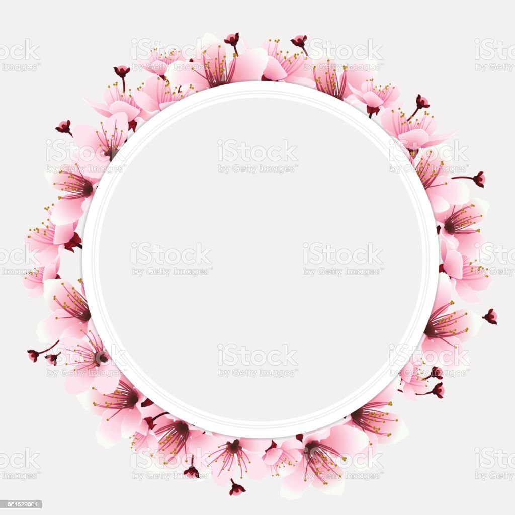 circle space with flower royalty-free circle space with flower stock vector art & more images of art