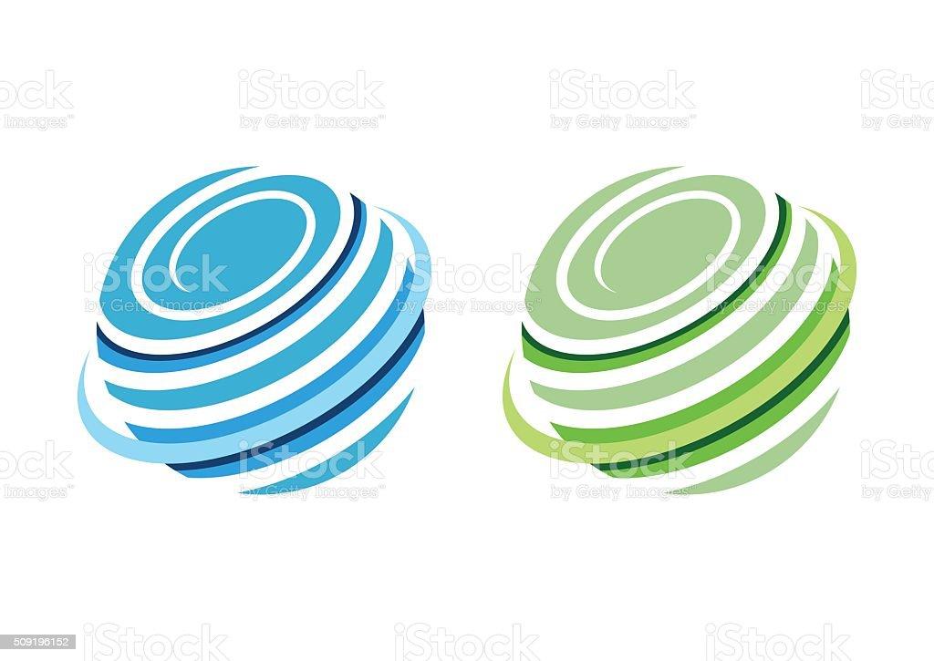 circle sphere global logo,whirlpool elements icon symbol vector design vector art illustration