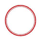 circle stamp frame illustration (blank)