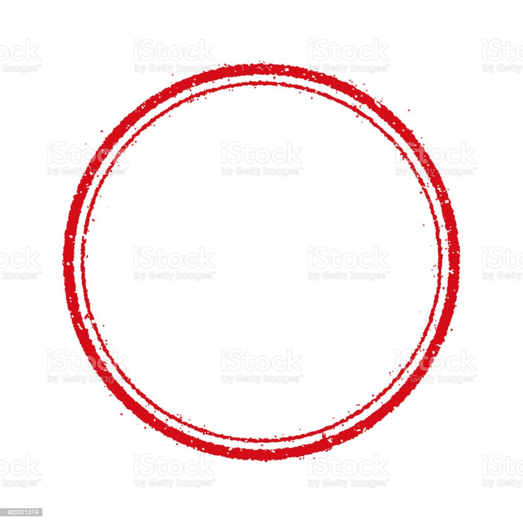 Kreis Stempel Frame Abbildung (leer) – Vektorgrafik