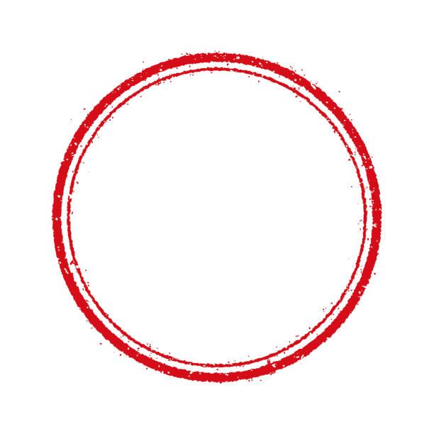 circle stamp frame illustration (blank) - stamp stock illustrations