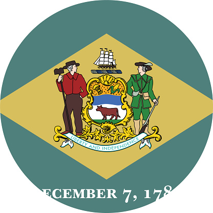 Circle state flag of US federal state of Delaware