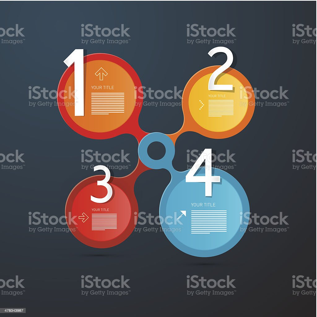Circle Steps for Tutorial, Infographics royalty-free stock vector art