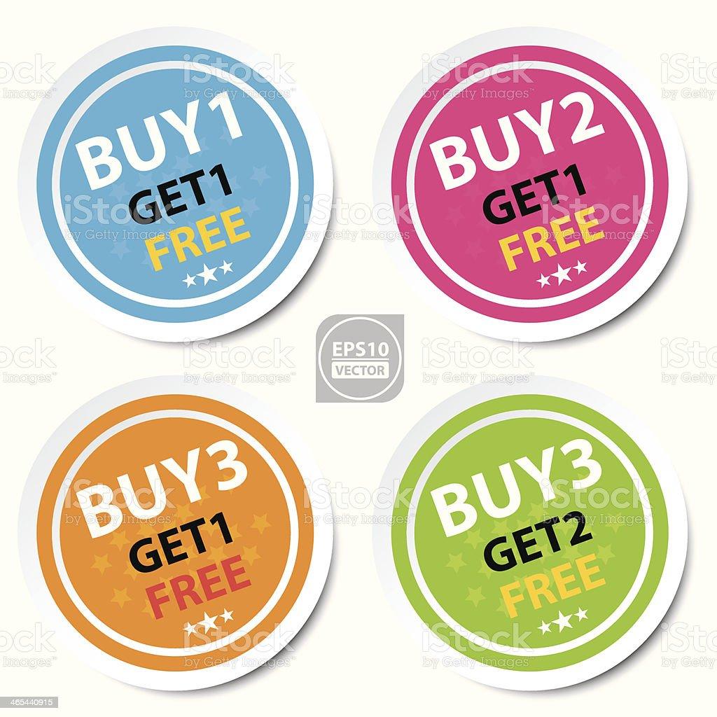 Circle Sticker For Marketing Campaign.