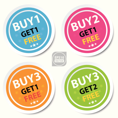 Circle Sticker For Marketing Campaign. clipart