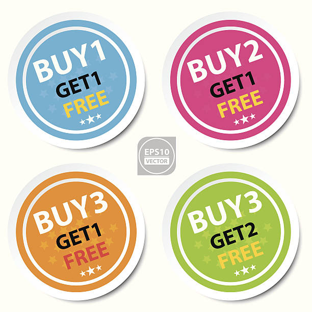 circle sticker for marketing campaign. - single object stock illustrations, clip art, cartoons, & icons