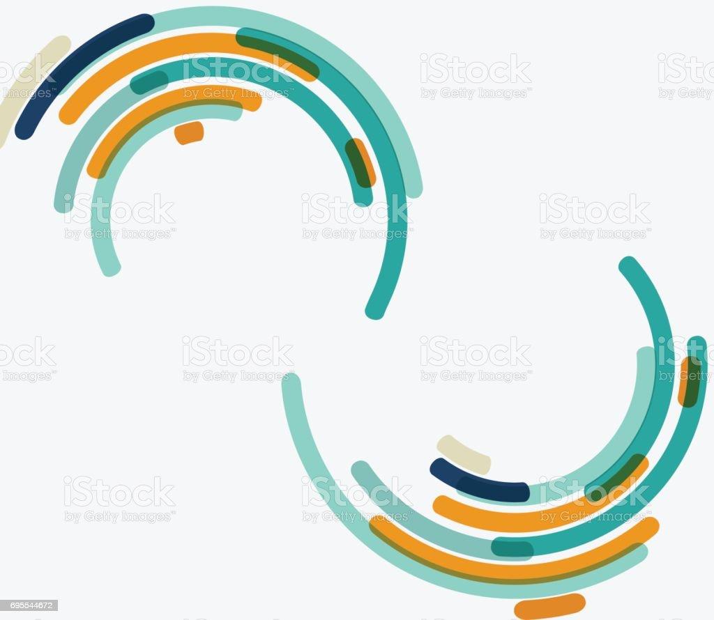 circle stripe background vector art illustration