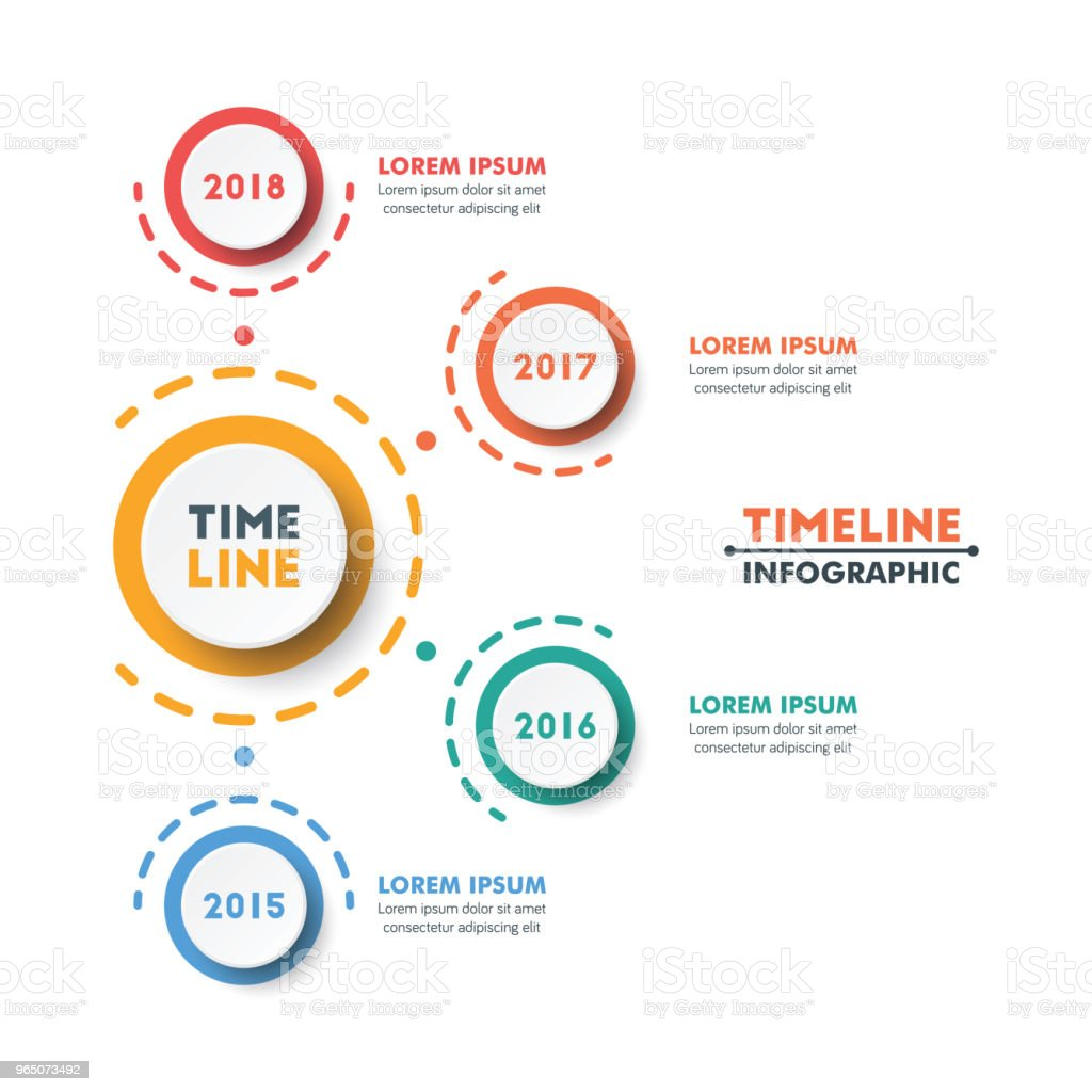 Circle Timeline Infographic Template with Colorful Rounded Button Design. Vector Illustration royalty-free circle timeline infographic template with colorful rounded button design vector illustration stock vector art & more images of abstract