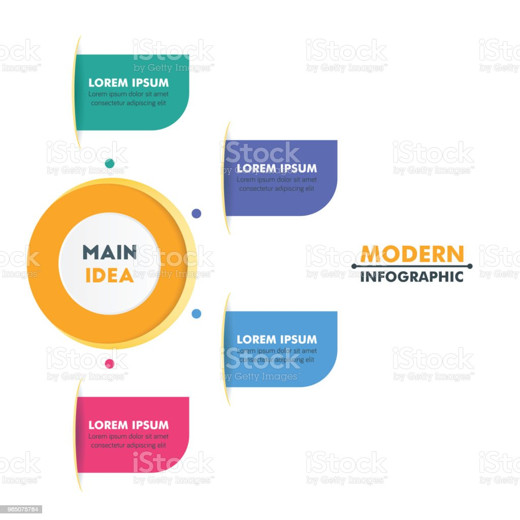 Circle Timeline Infographic Template with Colorful Rounded Design and Business Icons. Vector Illustration royalty-free circle timeline infographic template with colorful rounded design and business icons vector illustration stock vector art & more images of abstract