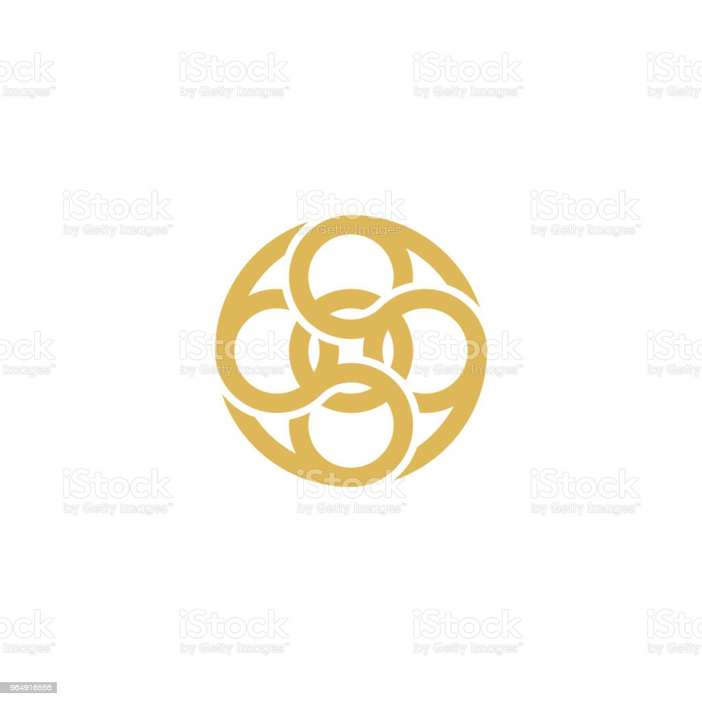 Circle unique shape icon royalty-free circle unique shape icon stock illustration - download image now
