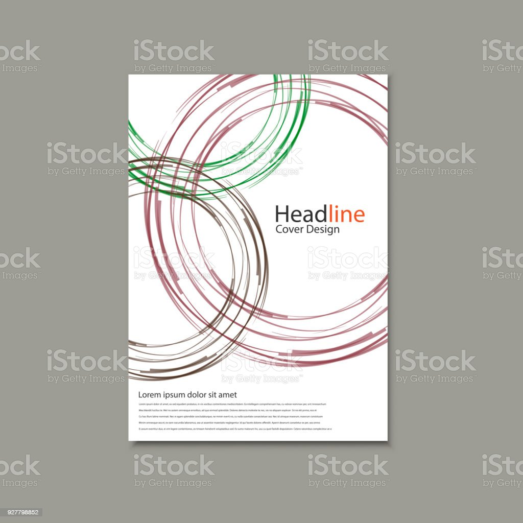 circle vector annual report brochure flyer template design book