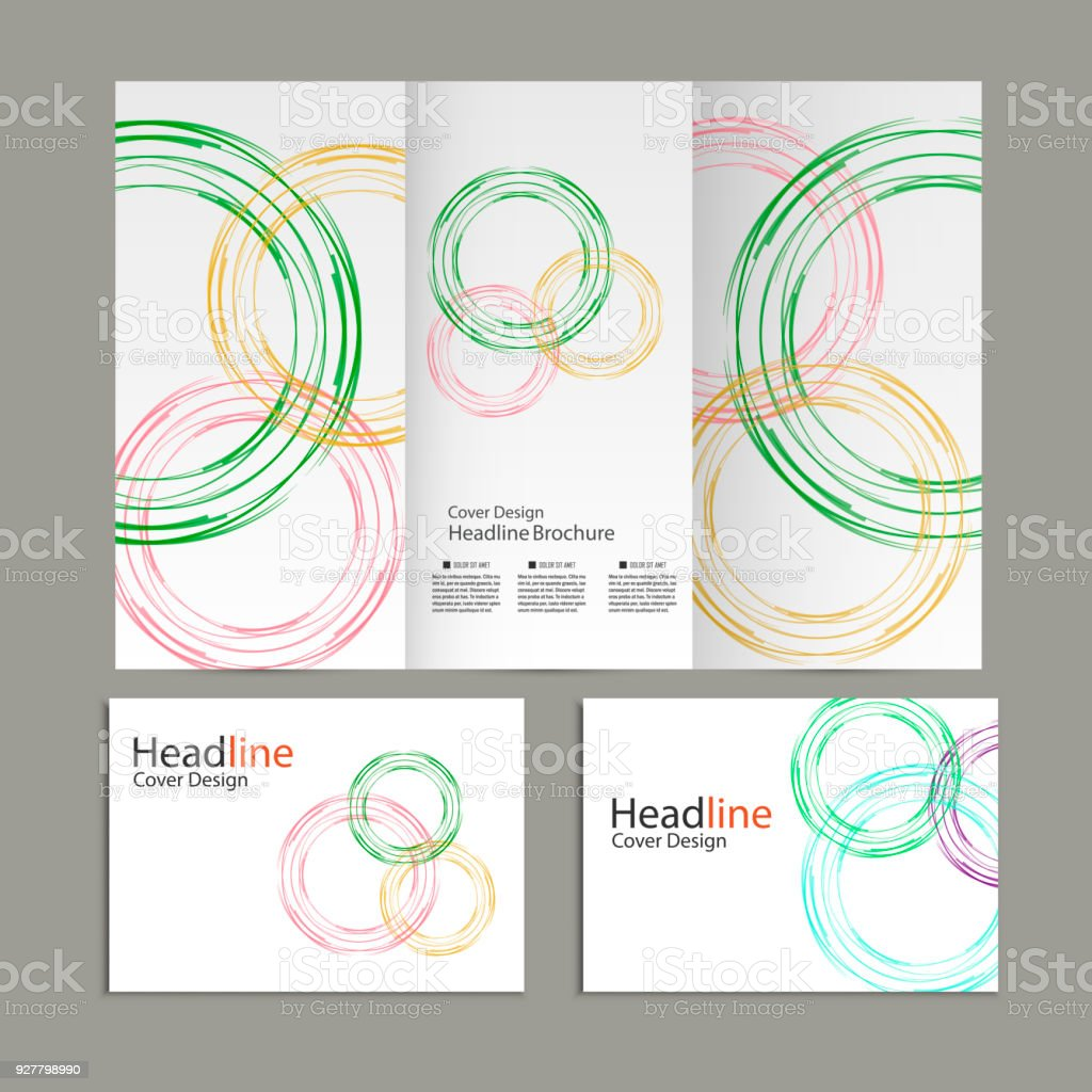 circle vector annual report brochure flyer template design book