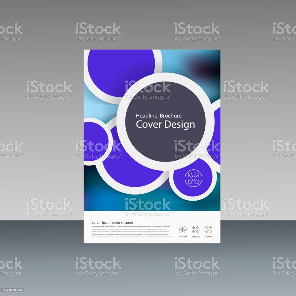Ilustración de Informe Anual De Vectores Diseño De Folleto Flyer ...