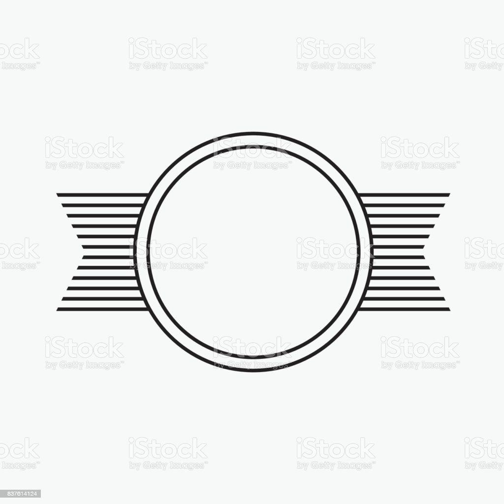 Kreis Vektor Rahmen Einfache Runde Form Und Gestreiften Band Stock ...