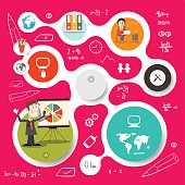 Circle Vector Infographics and Web Design Template
