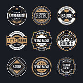 Circle Vintage and Retro Badge Design Collection. Vector illustration