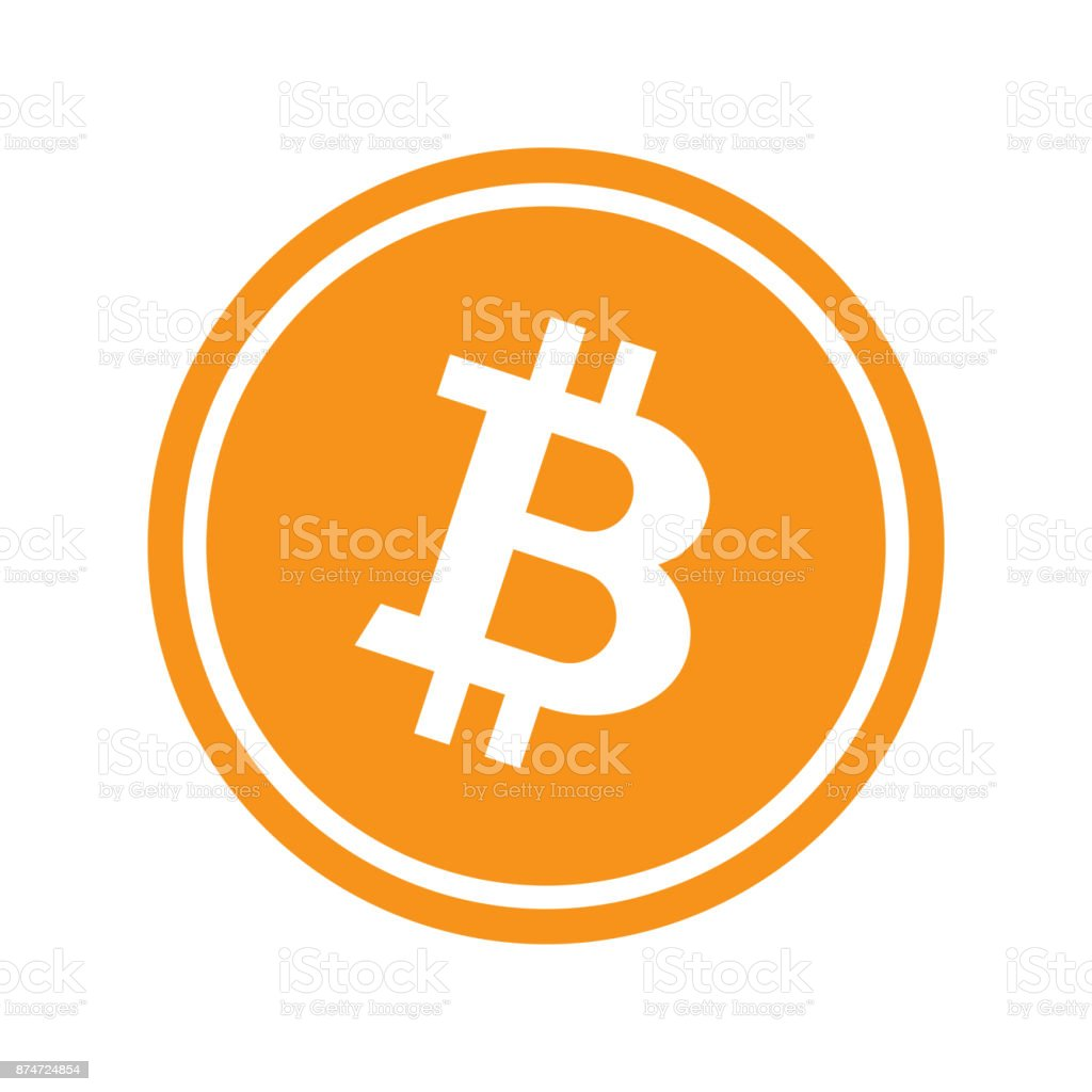 Circle with bitcoin vector art illustration