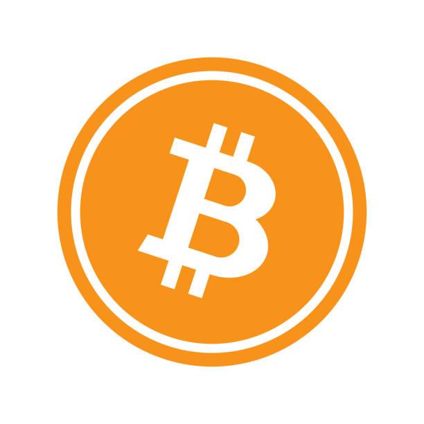 stockillustraties, clipart, cartoons en iconen met cirkel met bitcoin - bitcoin