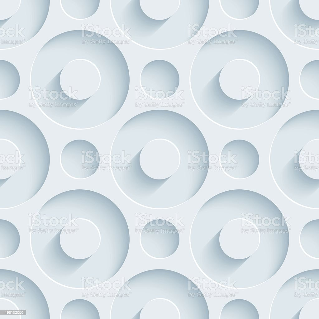 Circles 3D Seamless Wallpaper Pattern. vector art illustration