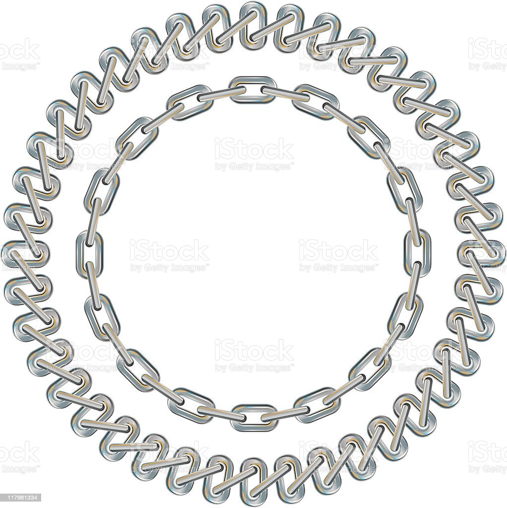 circles and chains royalty-free stock vector art