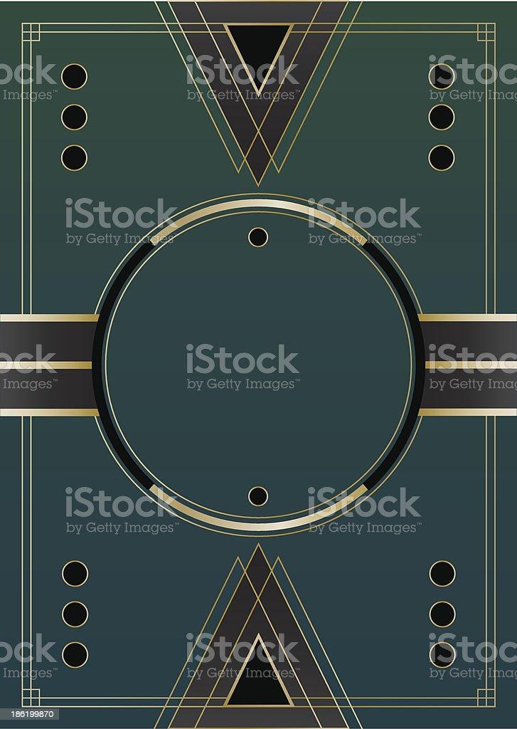 Circles Art Deco Background vector art illustration