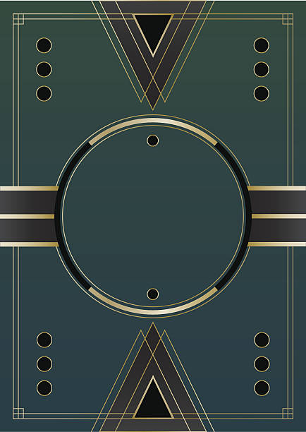 circles art deco background - 1930s style stock illustrations, clip art, cartoons, & icons