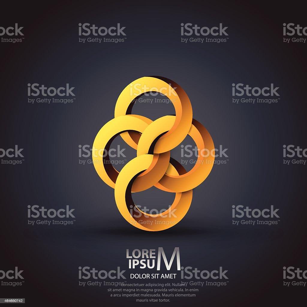 Circles logo vector art illustration