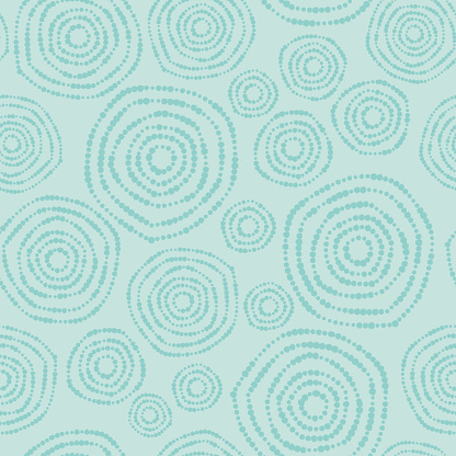 Vector Illustration of a beautiful and Soft Pastel Colours Seamless Background Pattern with Abstract Flowers Natural Circles