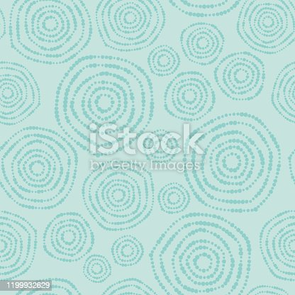 istock Circles Nature Seamless Background Pattern 1199932629