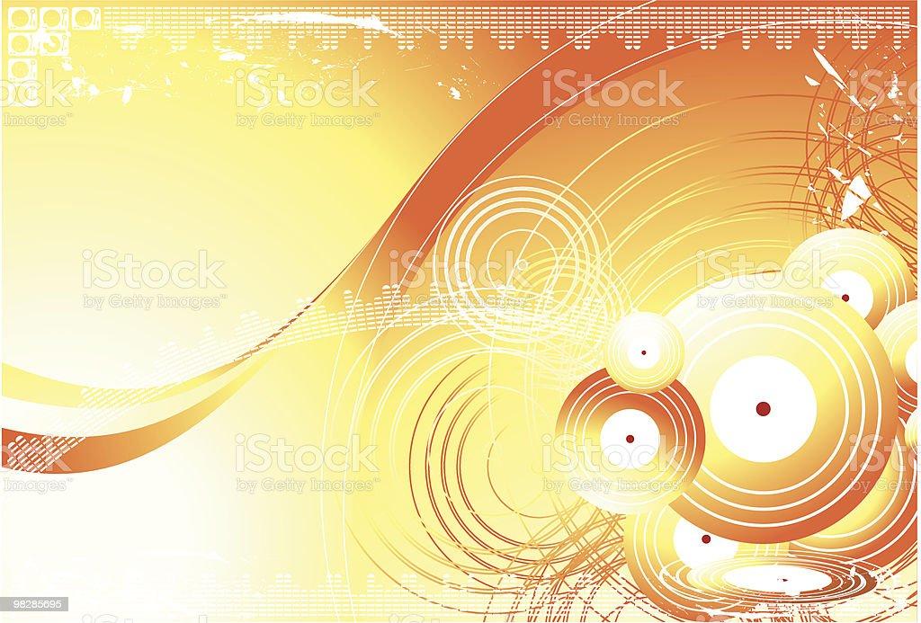 Circles Orange Background royalty-free circles orange background stock vector art & more images of abstract