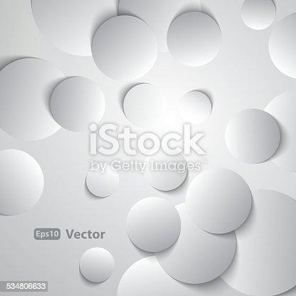Círculos com sombras de fundo abstrato Vector