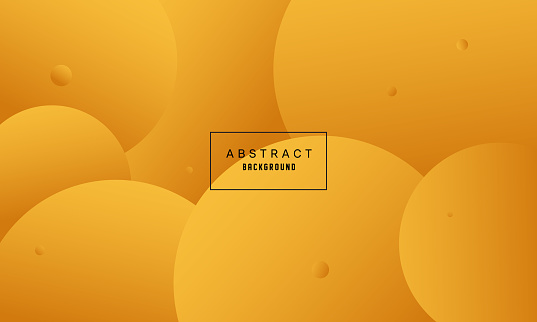 Circles Yellow Gradient Color Background with Halftone Texture
