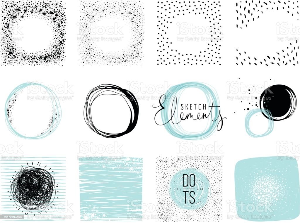 Circles_02 - ilustración de arte vectorial