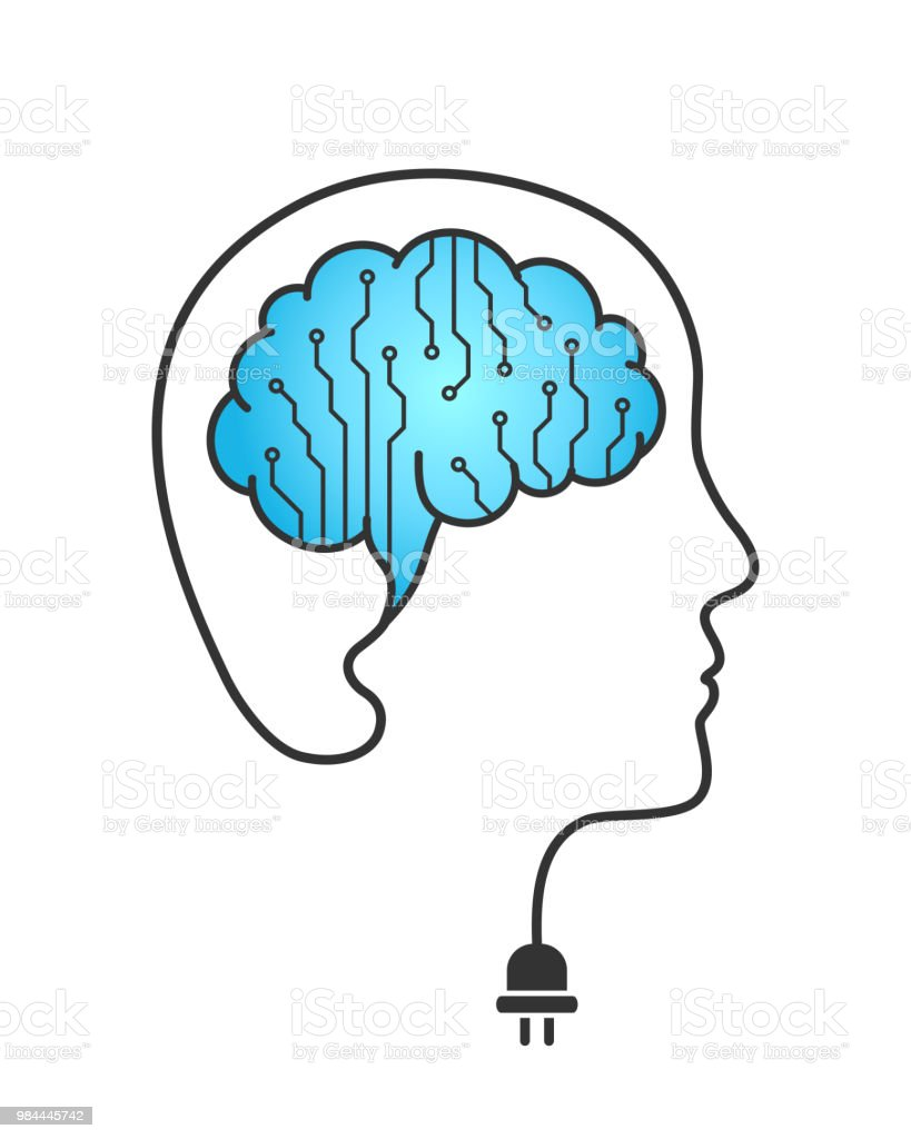 side vector circboard wiring diagram circuit board and wired brain concept stock illustration  wired brain concept stock illustration