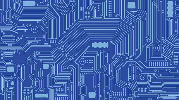 Circuit Board Background, Abstract, Computers, Technology Vector Illustration of Circuit Board Background. Best for Computers, Technology, Abstract Backgrounds, Engineering, Electronics, Information Technology concept.  circuit board stock illustrations