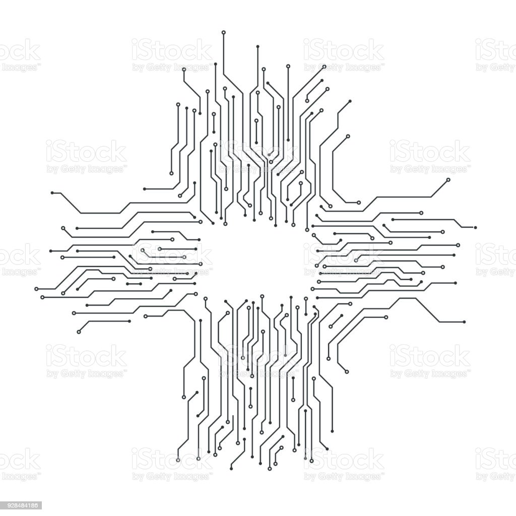 Circuit Board Background Card Thin Line Graphic Design Vector Stock ...