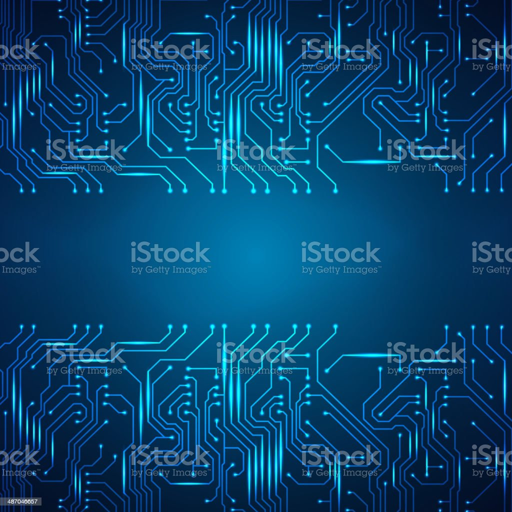Circuit board background vector art illustration