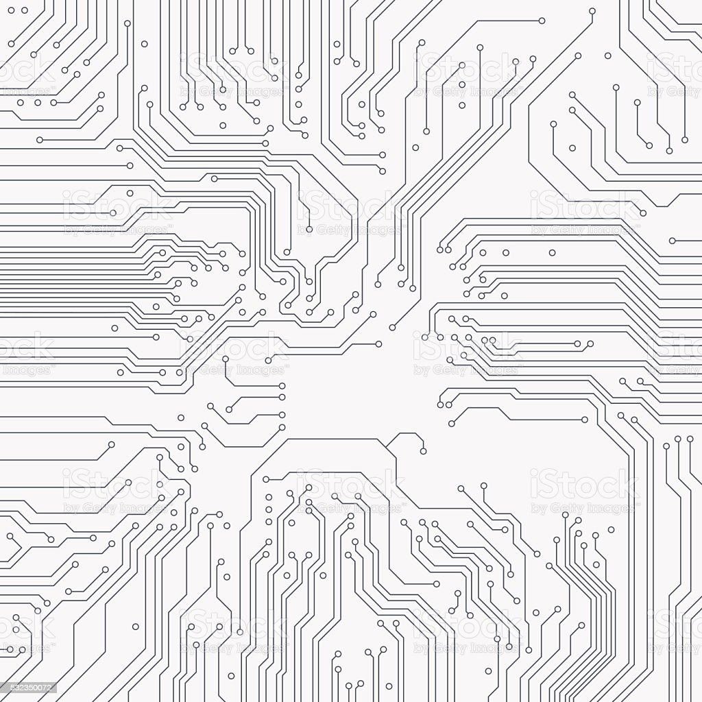 Circuit Board Background Vector Stock Vector Art & More Images of ...