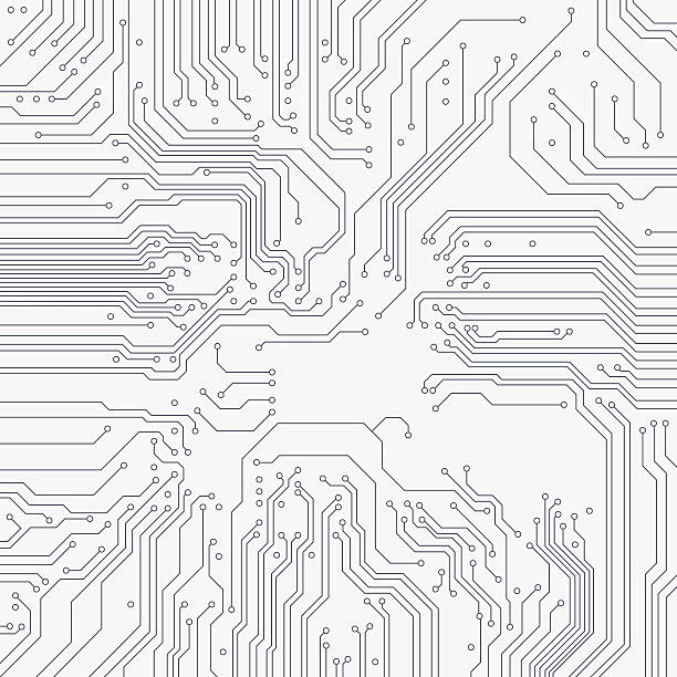 circuit board background. vector - electronics stock illustrations