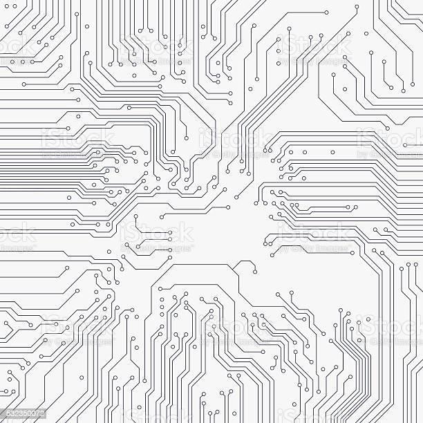 Circuit Board Background Vector-vektorgrafik och fler bilder på Abstrakt