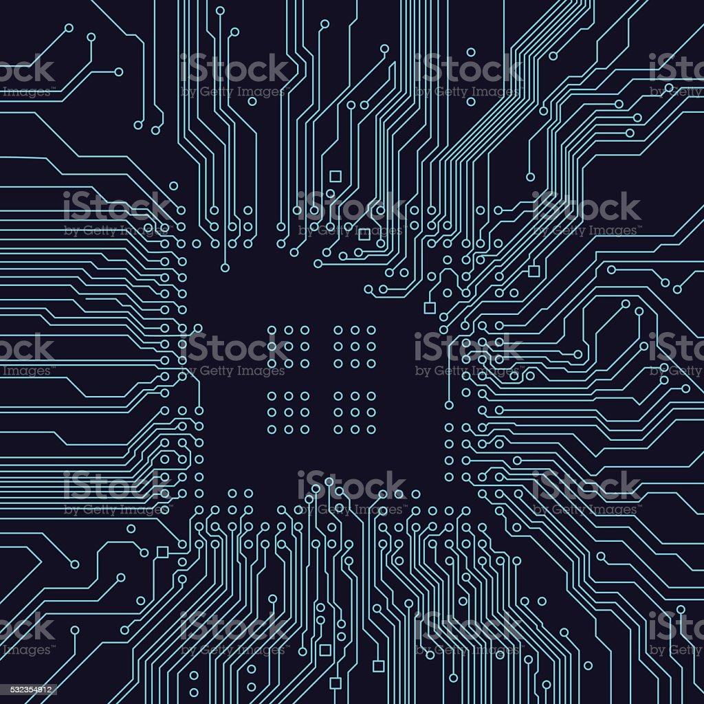 Circuit board background. Vector vector art illustration