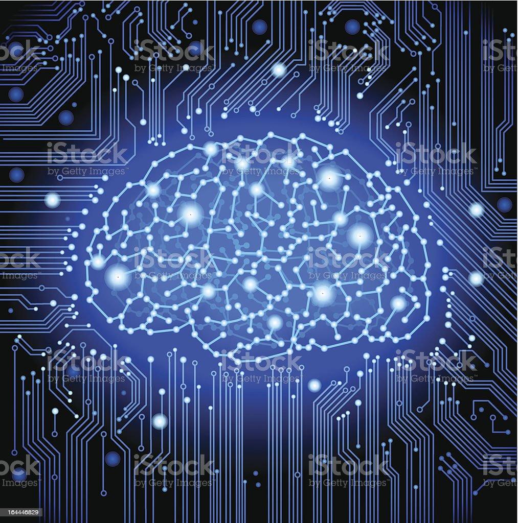 Circuit Brain Reusable : Circuit board brain background stock vector art more