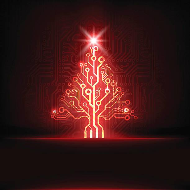 schaltkreis christmas tree - firmenweihnachtsfeier stock-grafiken, -clipart, -cartoons und -symbole
