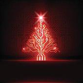 Circuit board Christmas tree