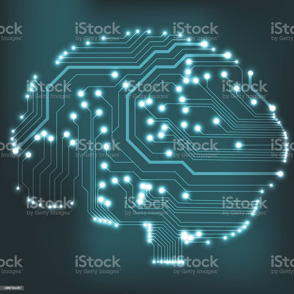 Circuit Board Computer Brain Vector Illustration Stock Art The Is Main Of Royalty Free