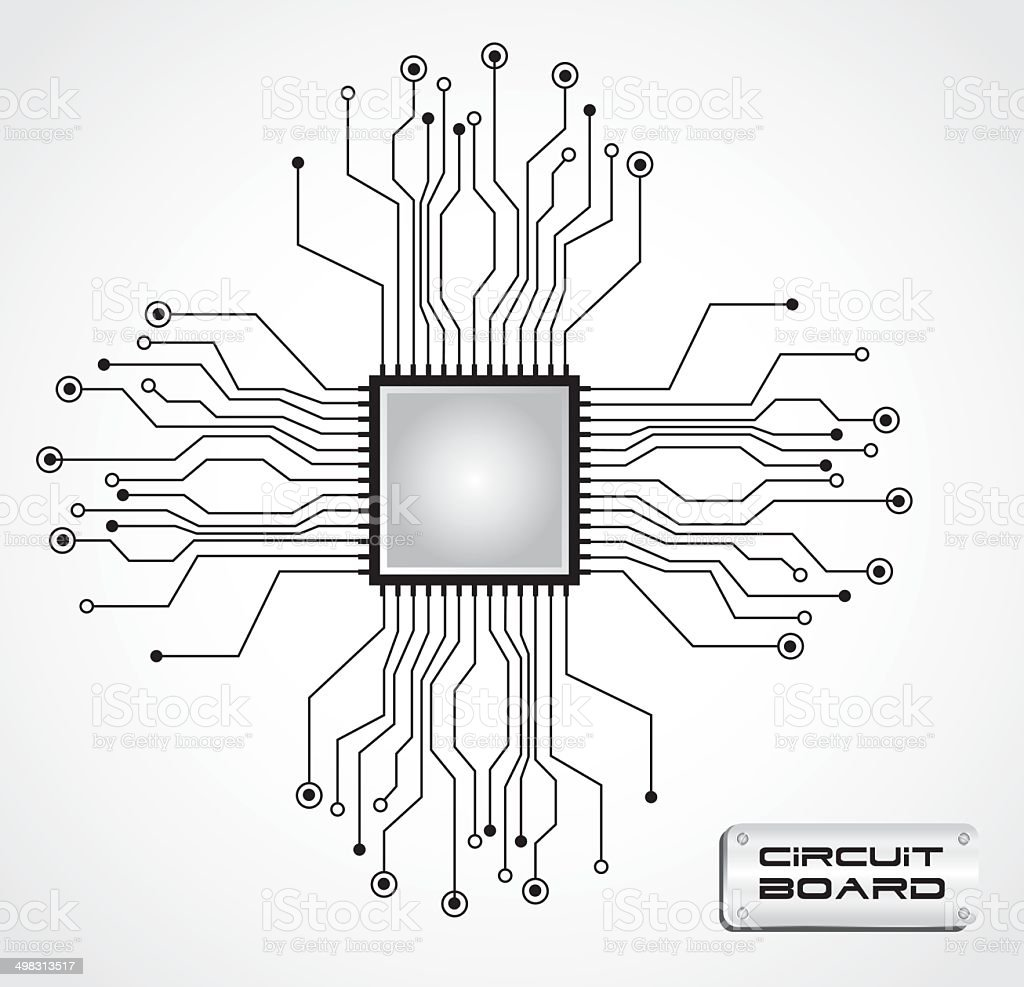 circuit board cpu stock vector art  u0026 more images of abstract 498313517